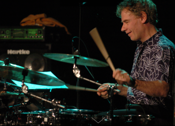 Bill Bruford in action
